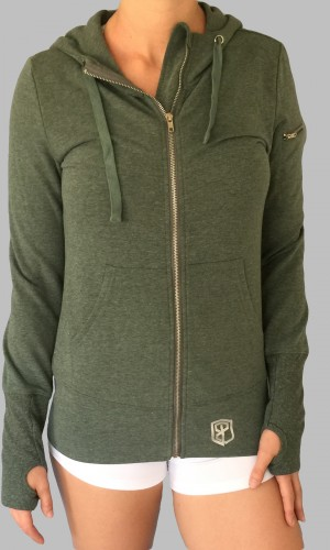 Green Hoodie Front