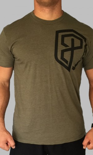 Logo T army green front
