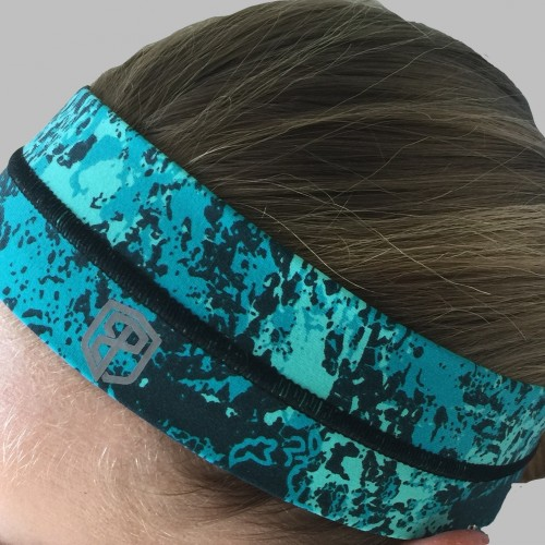 Teal Splash Headband