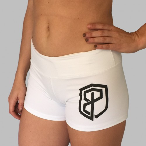 White short with black logo1